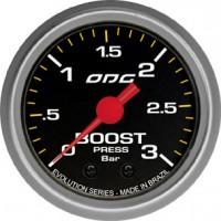 Manômetro ODG Evolution Boost 3 BAR 52 mm